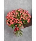 Монобукет из 15 кустовых роз